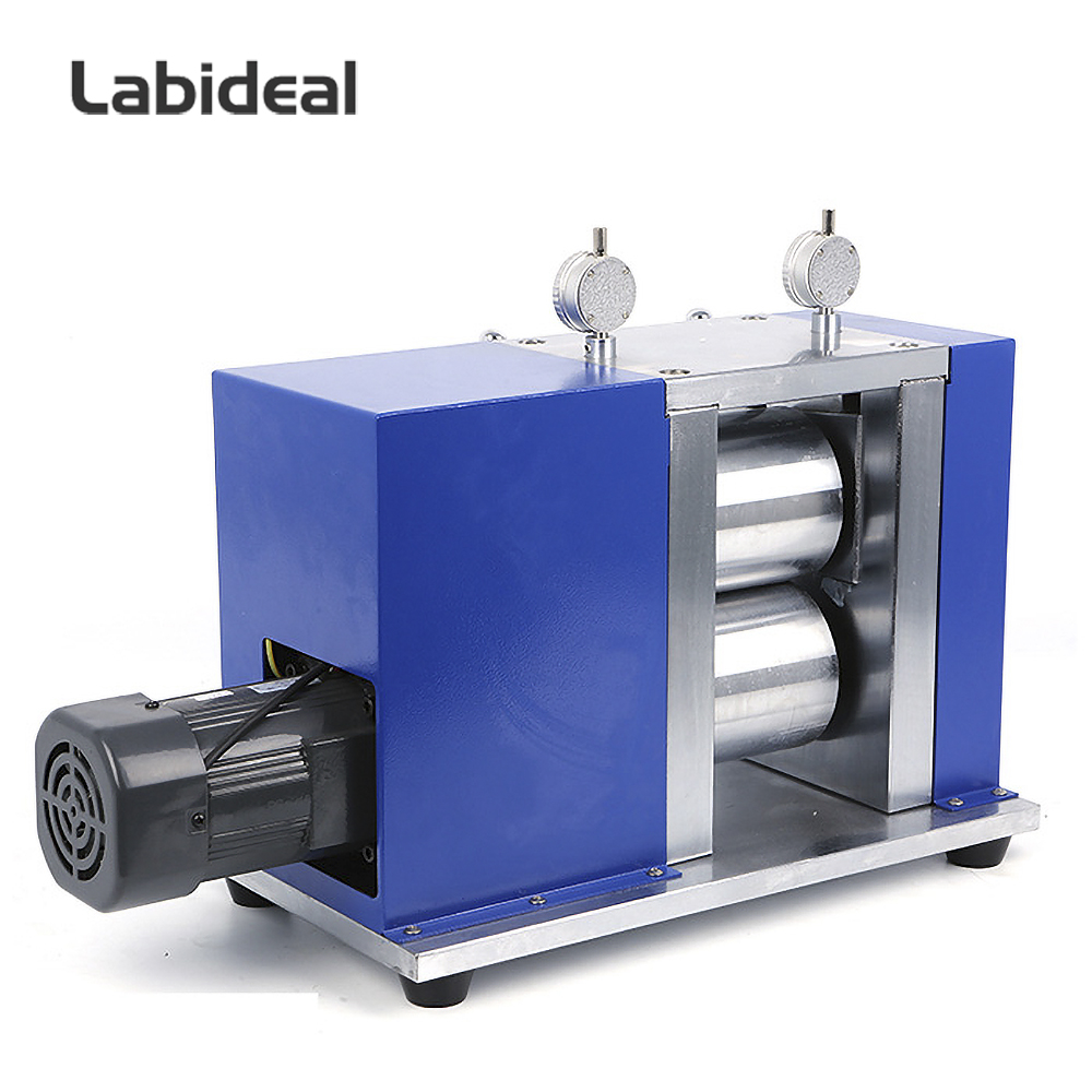 Electric Roller Press Machine for Battery Electrode Calendering 150mm