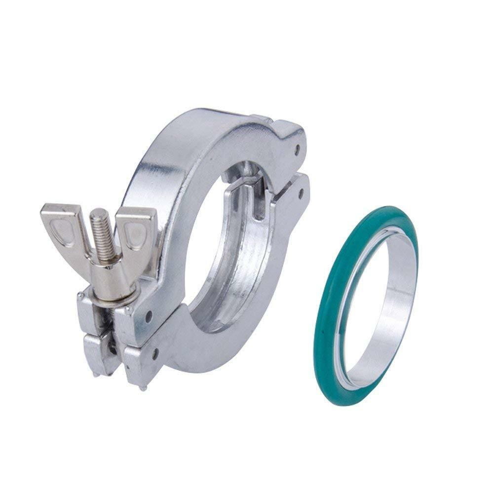 2 sets KF16 Aluminium Vacuum Clamp Ring + SS304 Centering Ring Viton O-ring