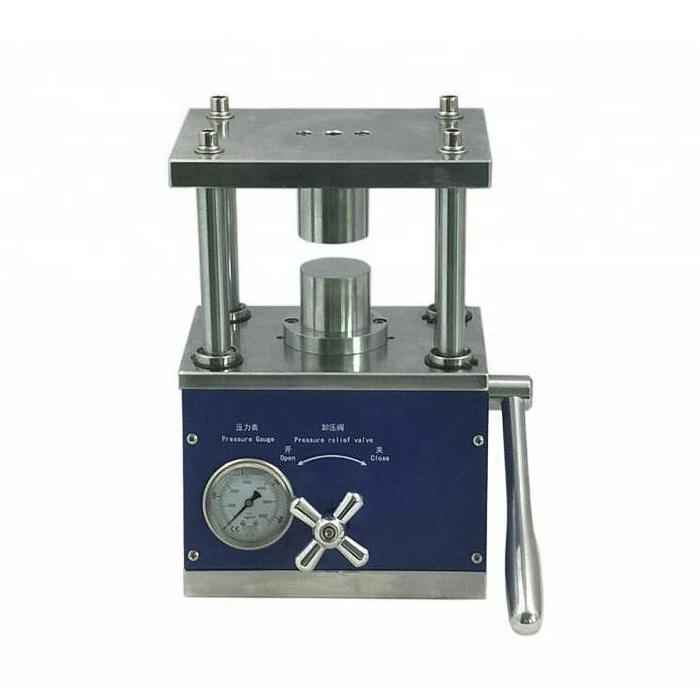 Lab Manual Hydraulic Tablet Press Machine for Coin Cell Battery Electrode