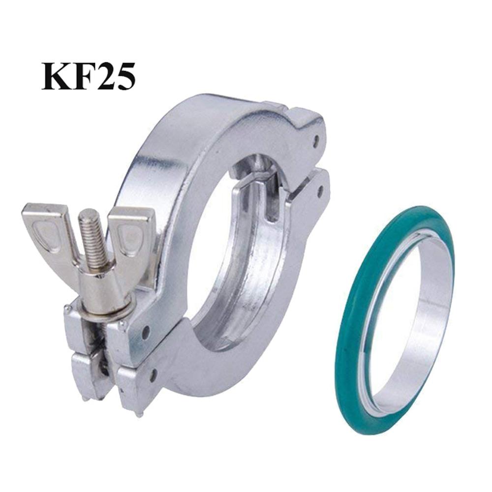3 Sets Vacuum Part KF-25 Aluminum Vacuum Clamper + Aluminum Centering + FKM viton O-rings
