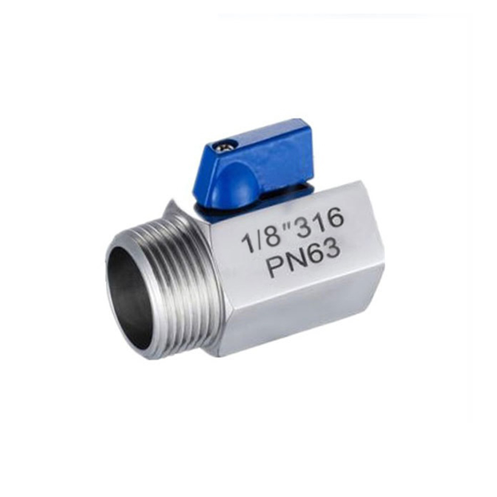316 Stainless Steel Mini Ball Valve Inner&Outer Wire 1/8″