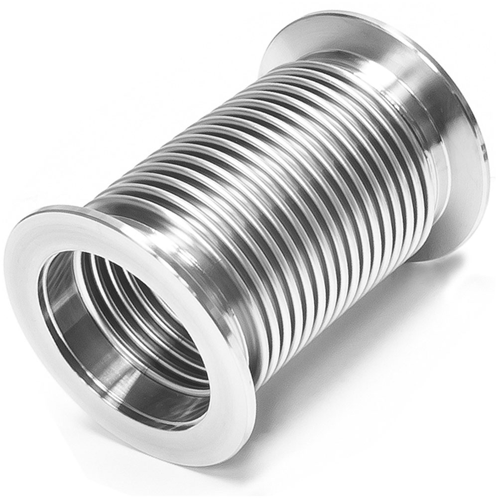 Bellows Hose Metal KF-50, 6 Inch,150mm, Flex Coupling, ISO-KF Flange Size NW-50, Thin Wall Tubing, 304 Stainless Steel