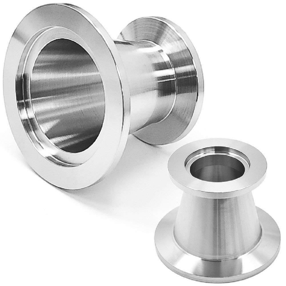 Conical Reducer KF-40 (NW-40) to KF-25 (NW-25),Stainless Steel,Vacuum Adapter