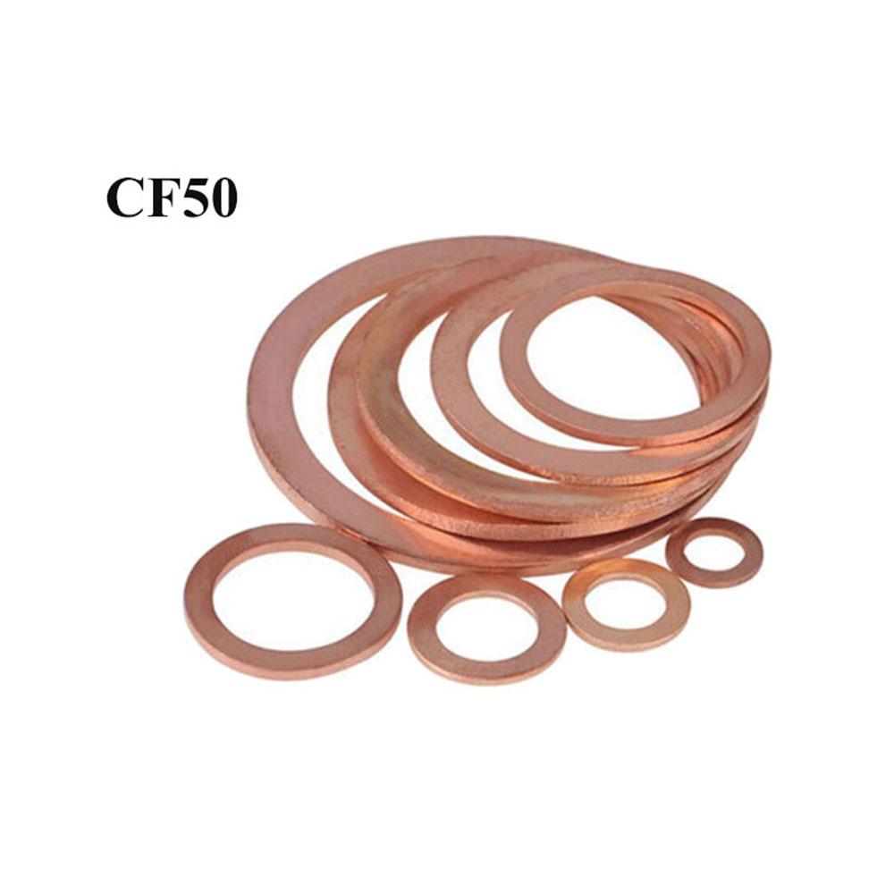 3 PCS Copper Gaskets Size3-3/8″ CF50 Flange Fitting Parts for 3.375″CF Vacuum Pump