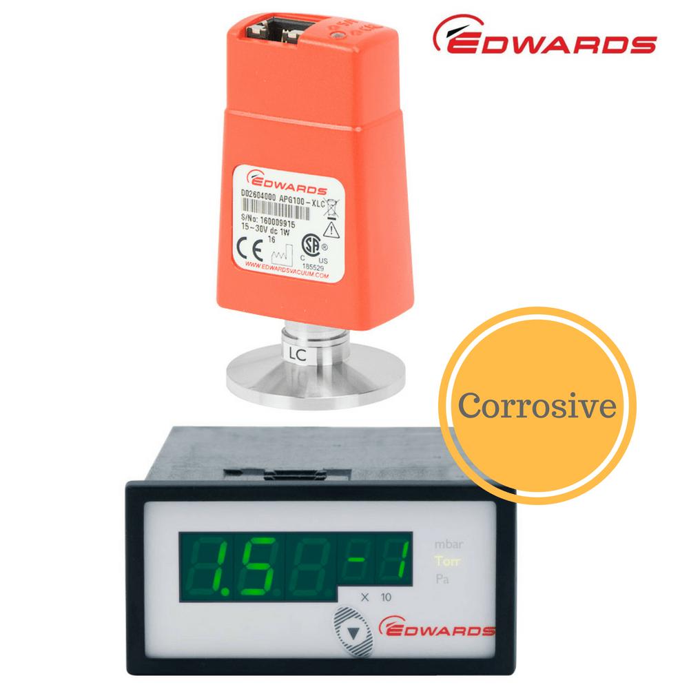 Edwards Pirani Corrosive Gauge Package   APG100-XLC + ADC Controller