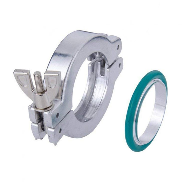 NW/KF Flange Clamp + Centering O-rings with Fluorine Rubber