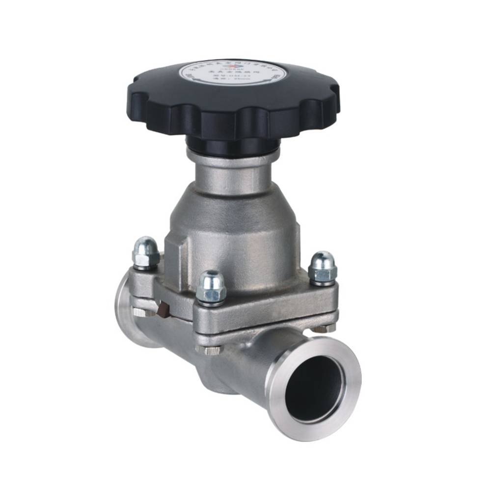 KF Stainless Steel Manual High Vacuum Quick Release Flange Diaphragm Valve GM-KF16