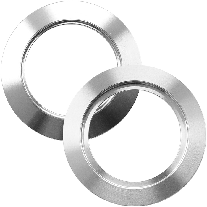 ISO-KF40 Stainless Steel Blank Vacuum Flanges with Bore, 1.73″