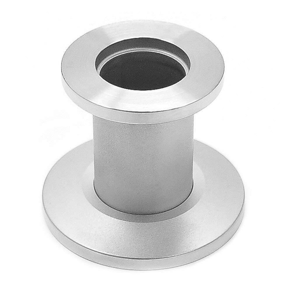 304 Stainless Steel KF Turn CF Straight Through Vacuum Adapter