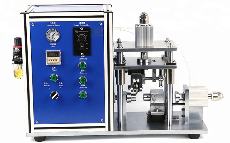 Semi-automatic Cylindrical Battery Caes Grooving Machine