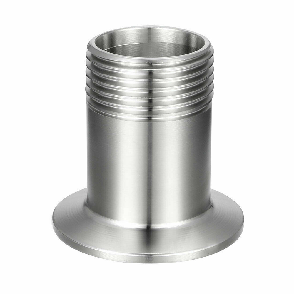 Threaded NPT Male Threaded Pipe Fitting to TRI CLAMP Adapter SS304 KF40 1-1/4″