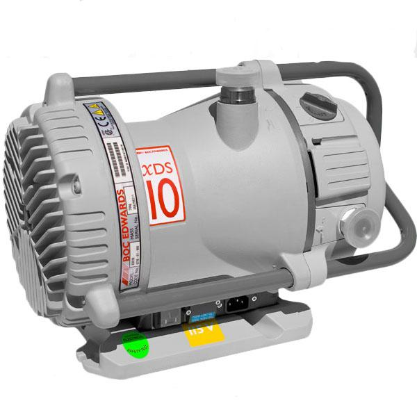 Edwards XDS10, 6.5 CFM (184 L/M) dry scroll pump, Inlet NW25, 1Ø, 115/230, 50/60 Hz, 45 mTorr Base Pressure