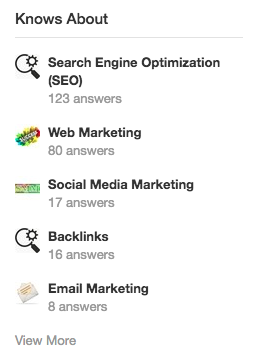"""Editing Quora's """"Knows About""""Section"""