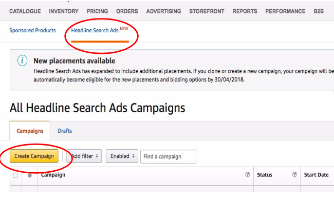 Headline Search Ads Campaigns - Amazon Ads