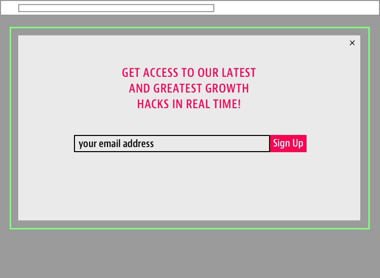 Homepage Email Signup Box