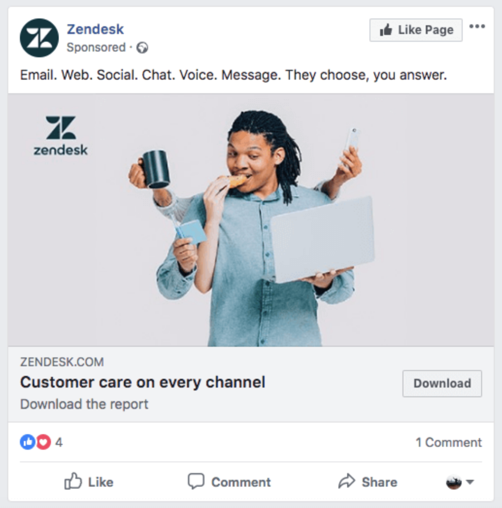 Facebook Page Likes Ad Preview