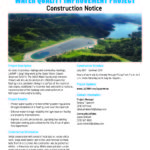 Construction Notice: Upper Stone Canyon Reservoir Water Quality Improvement Project