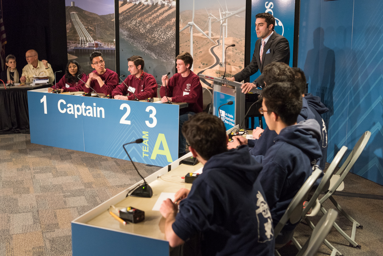 Quarter-final match of the LADWP Regional Science Bowl