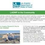 LADWP in the Community Newsletter, Earth Day Issue (April 2019)