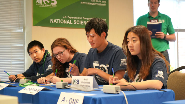 North Hollywood High School Wins Third Place at National Science