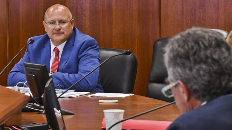 LADWP General Manager Martin L. Adams at a Board Meeting