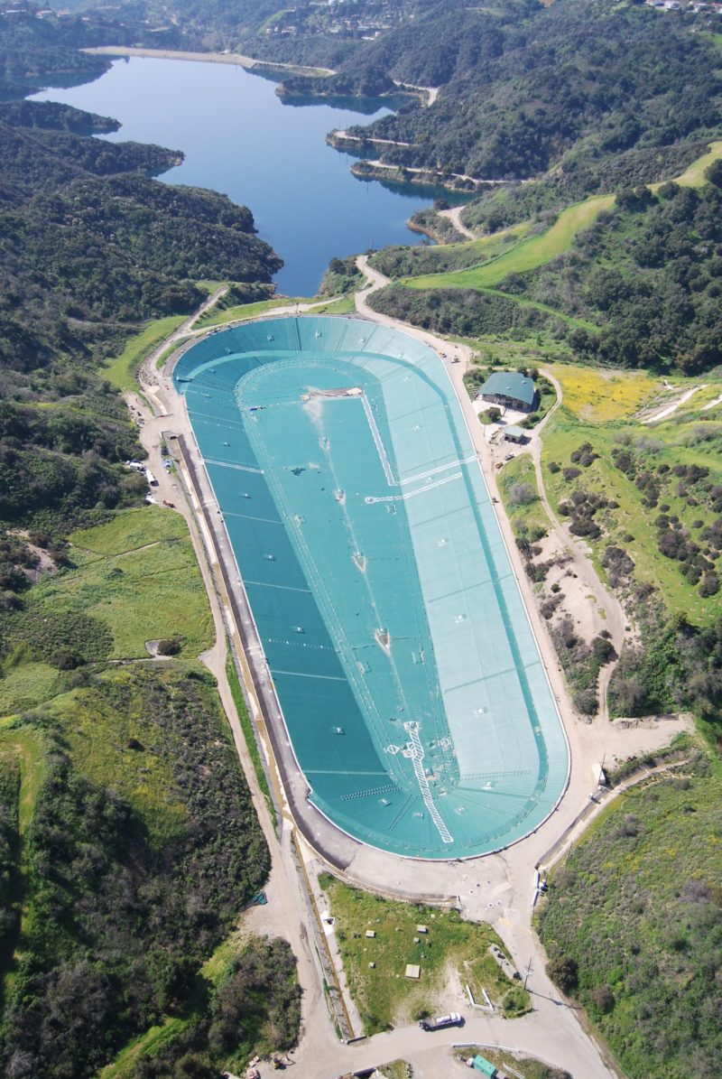 LADWP's Upper Stone Canyon Reservoir Returns to Service with Newly Installed Floating Cover