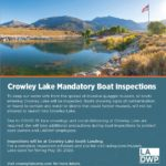 Crowley Lake Mandatory Boat Inspection Information
