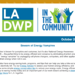 LADWP in the Community Newsletter – October 2020