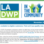LADWP in the Community Newsletter – November 2020