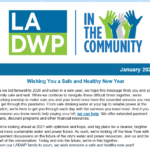 LADWP in the Community Newsletter – January 2021