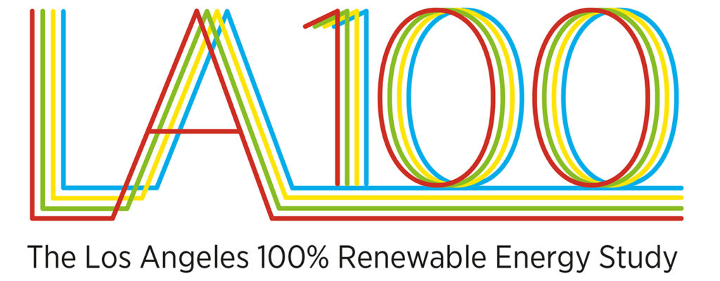 Image of a graphic with text that reads LA100
