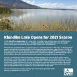 Klondike Lake Opens for 2021 Season
