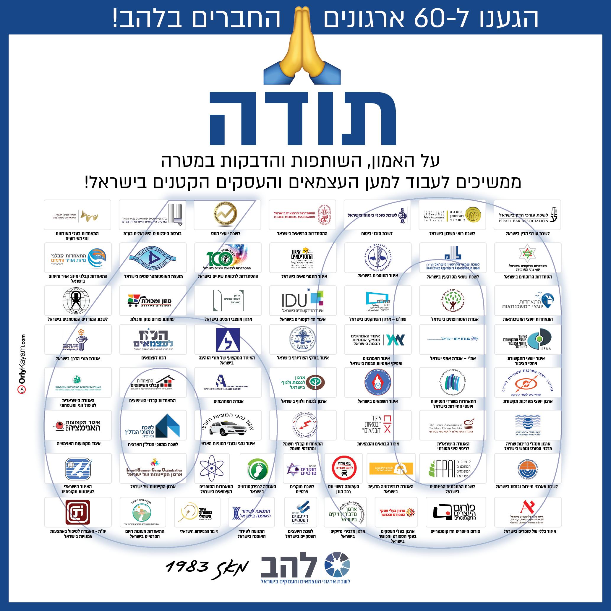 60 ארגונים