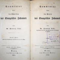 Commentar über die Briefe des Evangelisten Johannes