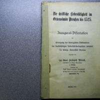 Die christliche liebestätigkeit im ordenslande Preussen bis 1525