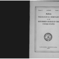 Bulletin (Theological Seminary of the Reformed Church in the United States (Lancaster, Pa.)), vol. 4 no. 1