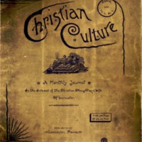 Christian Culture: a local interdenominational journal, religious, literary and social