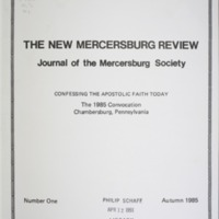 The New Mercersburg Review, no. 1