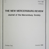 The New Mercersburg Review, no. 2