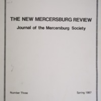 The New Mercersburg Review, no. 3