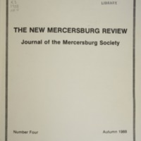 The New Mercersburg Review, no. 4