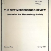 The New Mercersburg Review, no. 5