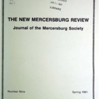 The New Mercersburg Review, no. 9