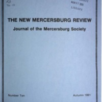 The New Mercersburg Review, no. 10