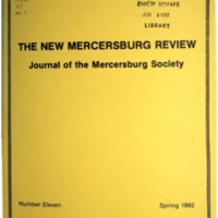 The New Mercersburg Review, no. 11