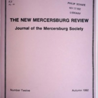 The New Mercersburg Review, no. 12