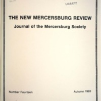 The New Mercersburg Review, no. 14