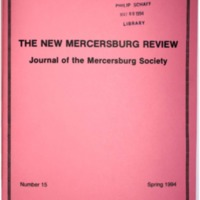 The New Mercersburg Review, no. 15