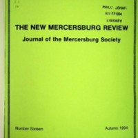 The New Mercersburg Review, no. 16