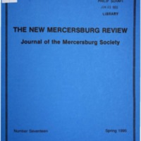 The New Mercersburg Review, no. 17